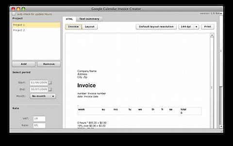 Google Calendar Invoice Creator