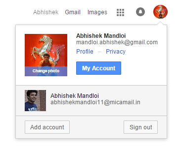 gmail multiple account
