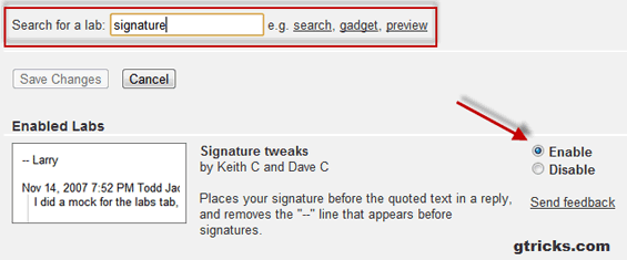 Remove Gmail signature dash