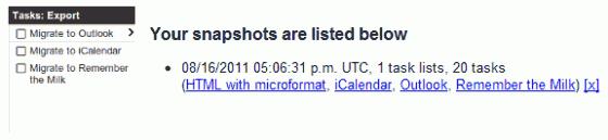 Google Tasks Porter snapshot