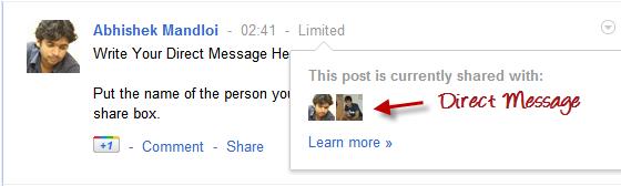 direct private message