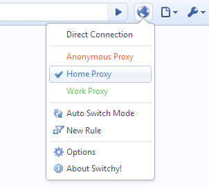 change proxy with single click
