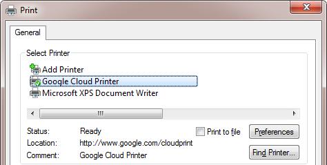 cloud printer windows driver