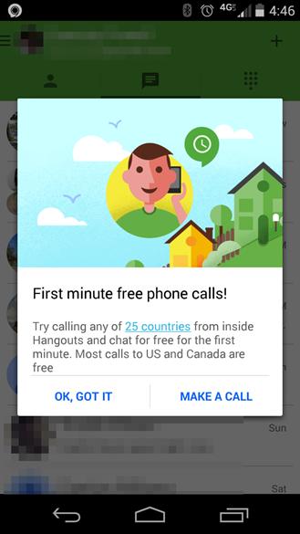 Hangouts App Free Calls