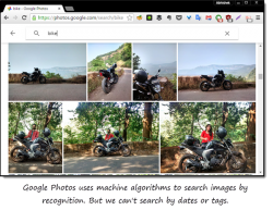 GooglePhotois machine algorithm search