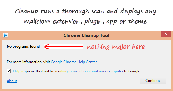 Cleanup popup if nothing found