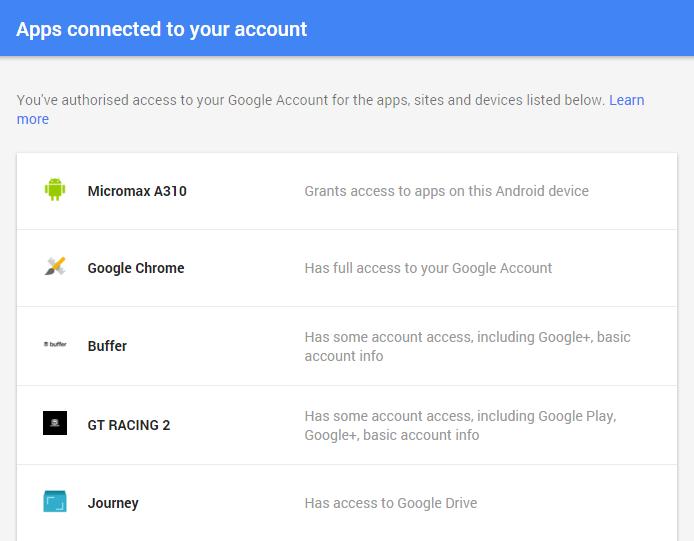 Google app permission