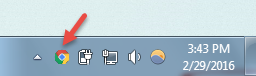 Chrome system tray icon