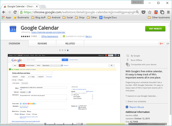 Extension_Google_Calendar
