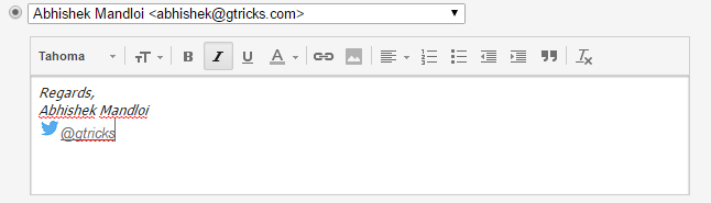 Gmail rich text signature