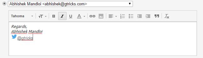 Gmail rich text signature