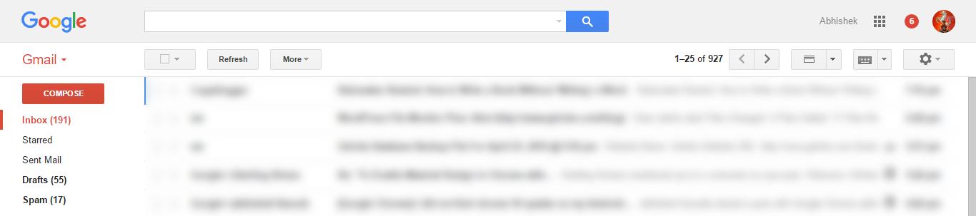 Current Gmail Design