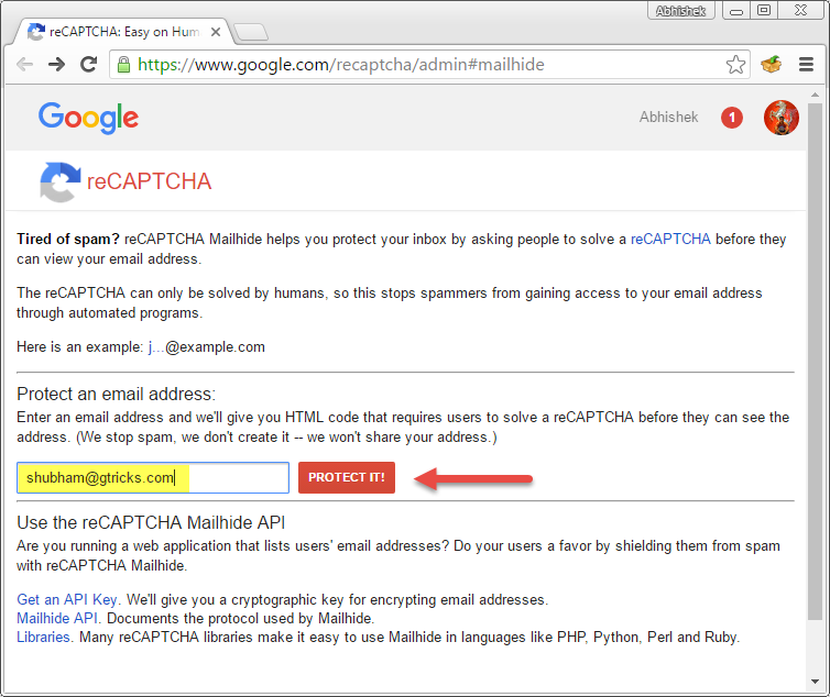 how to make a email address on google
