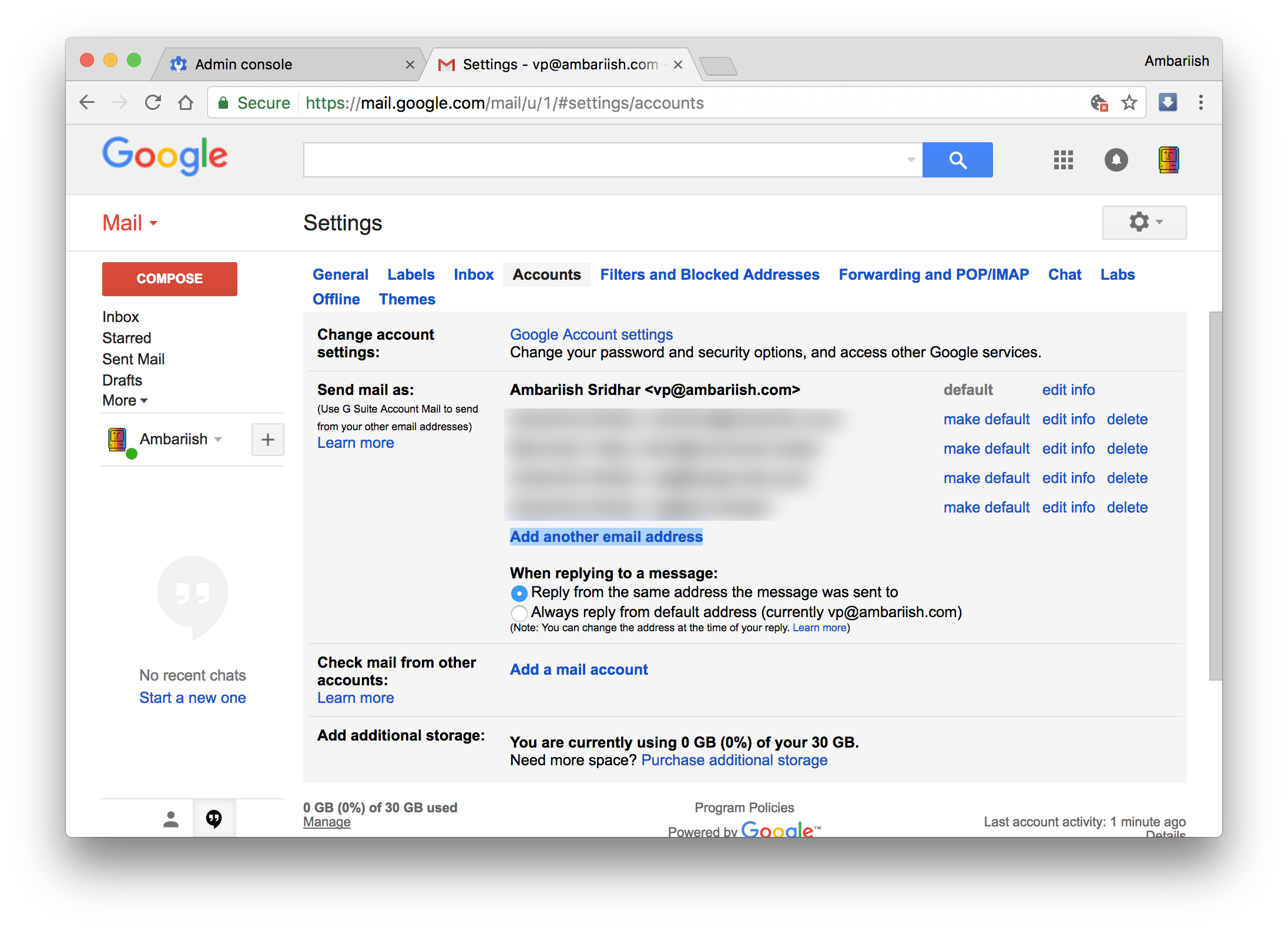 add multiple domain & email aliases in g suite