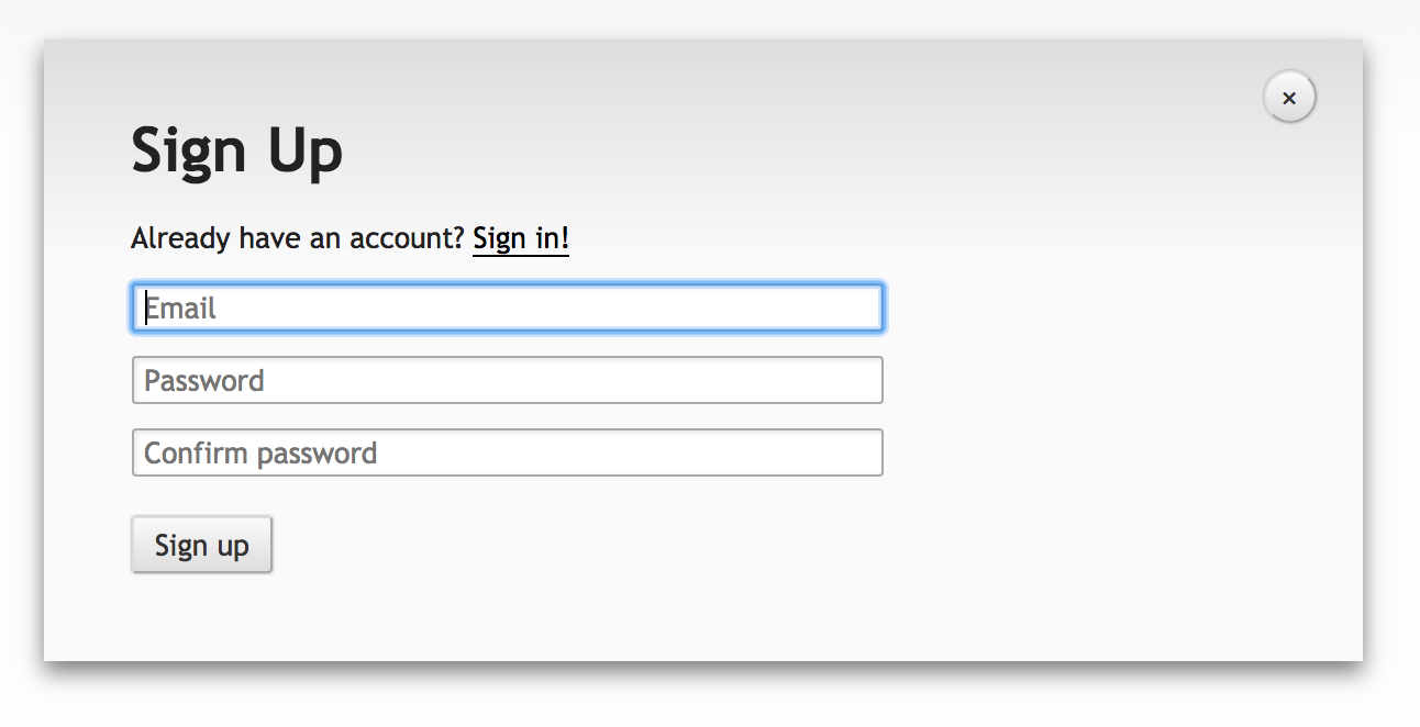 Sign-up for an account