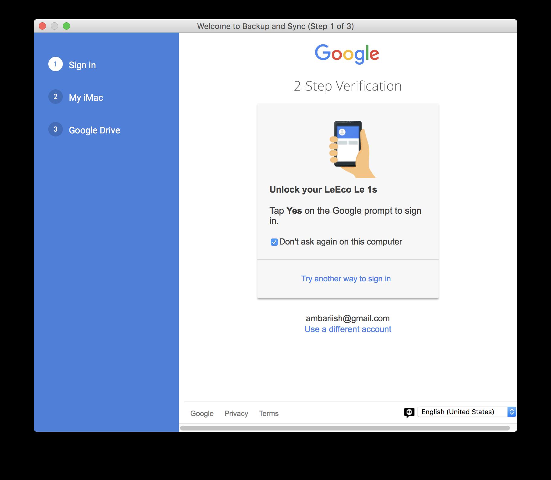 Backup Sync Google