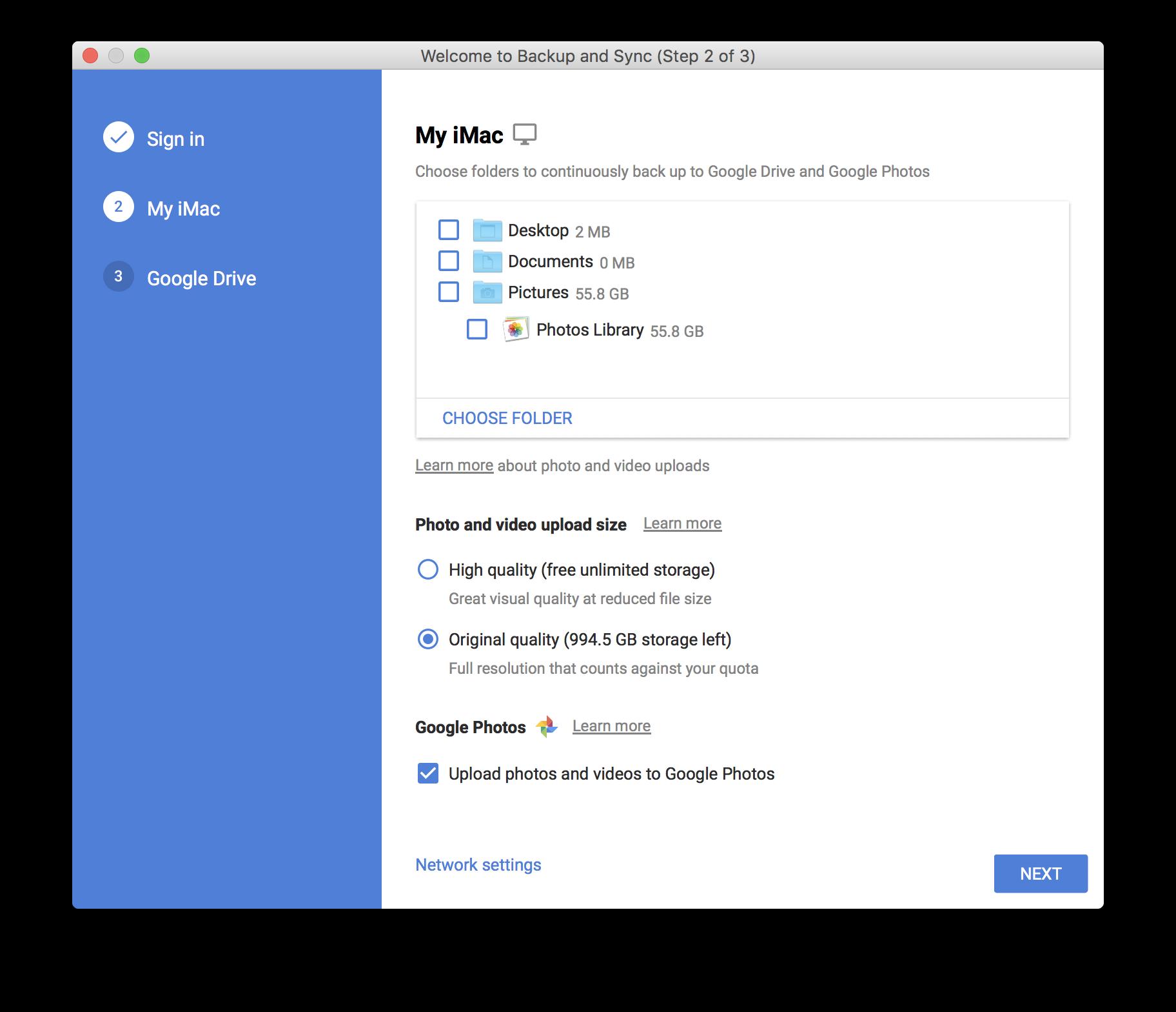 Sync Network Folder To Google Drive