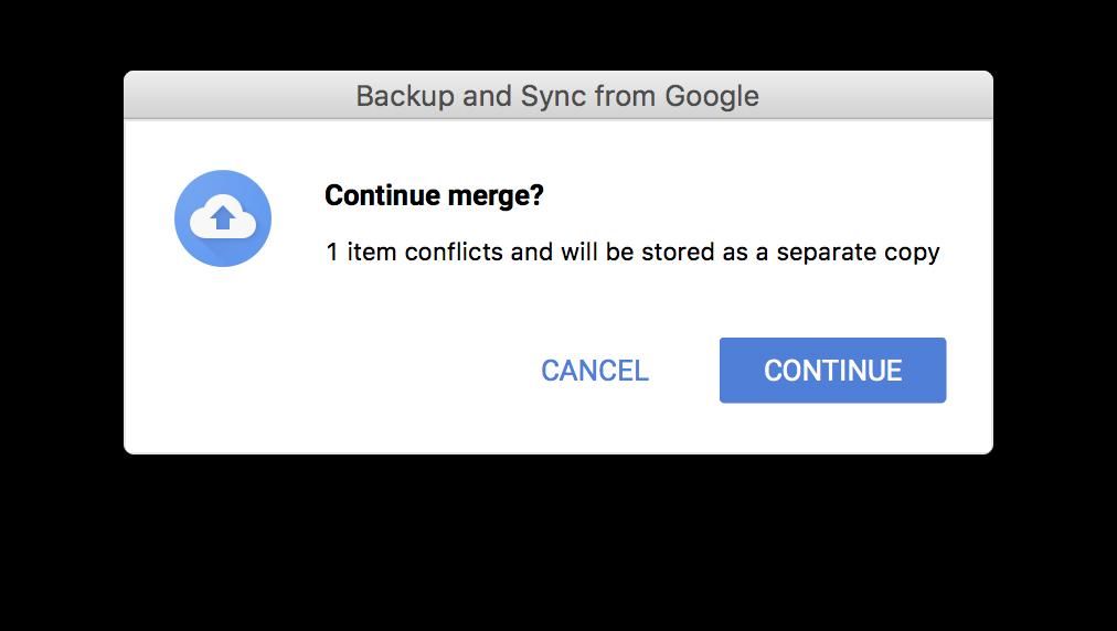 using backup & sync