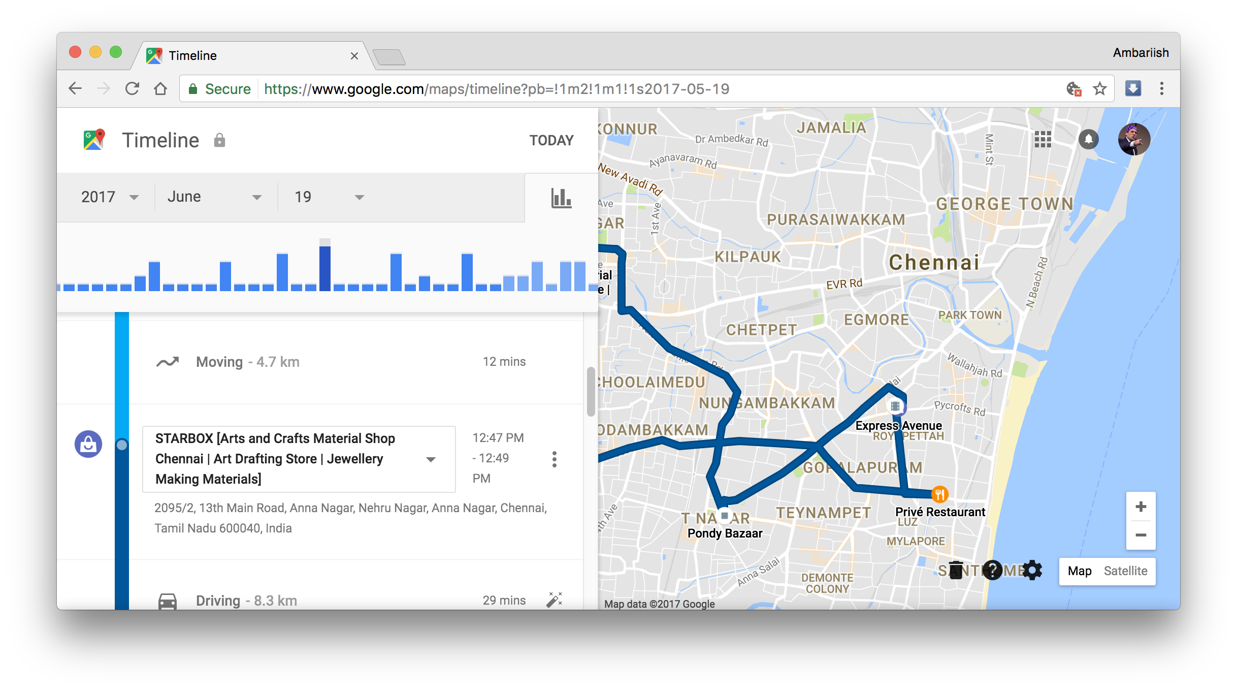 manage your location history