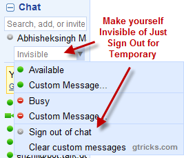 temporary disable-igoogle-chat