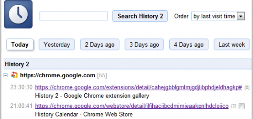 Chrome history2 extension