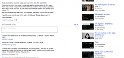 youtube video with comments ads sidebar small