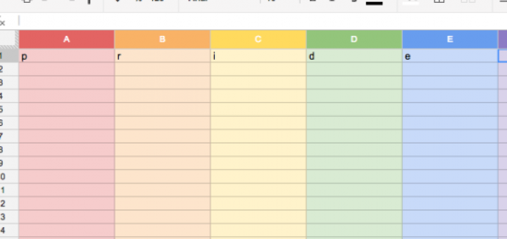 Google Spreadsheet PRIDE Easter Egg