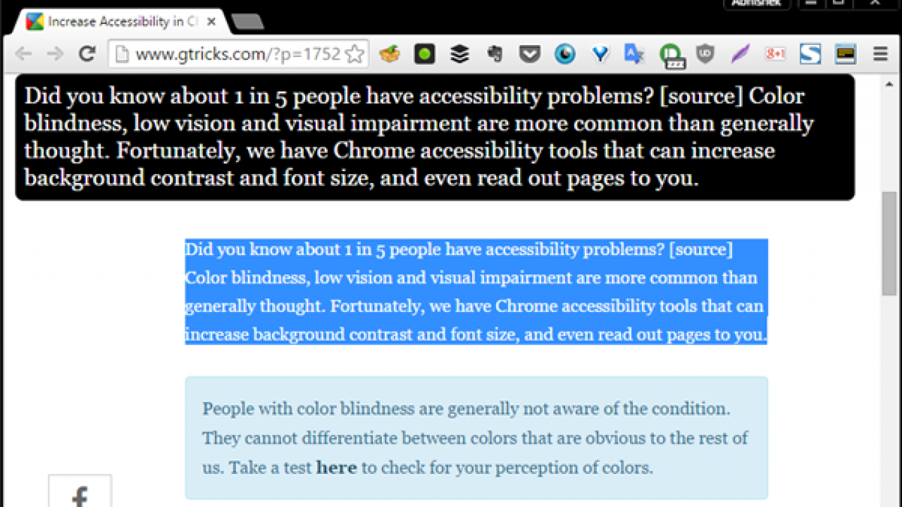 Chrome Accessibility Options With Better Colors And Contrast