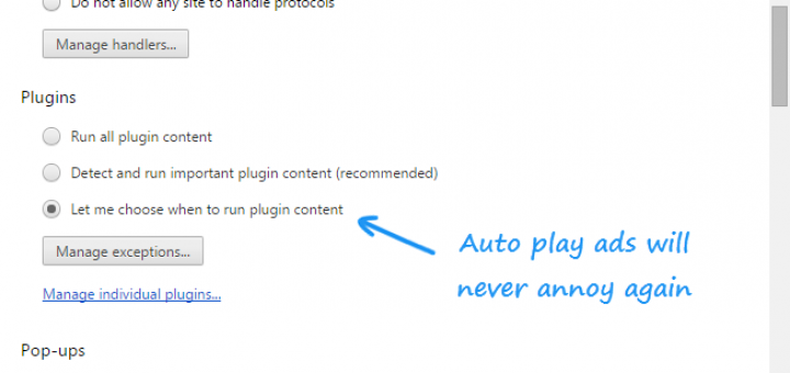 chrome plugin settings