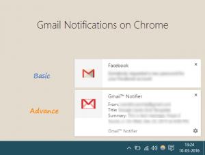 Basic and advance notifications