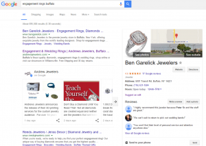 Search results with Google Post cards