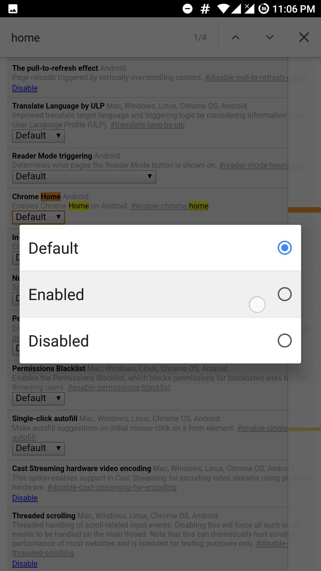 bottom url & navigation bar