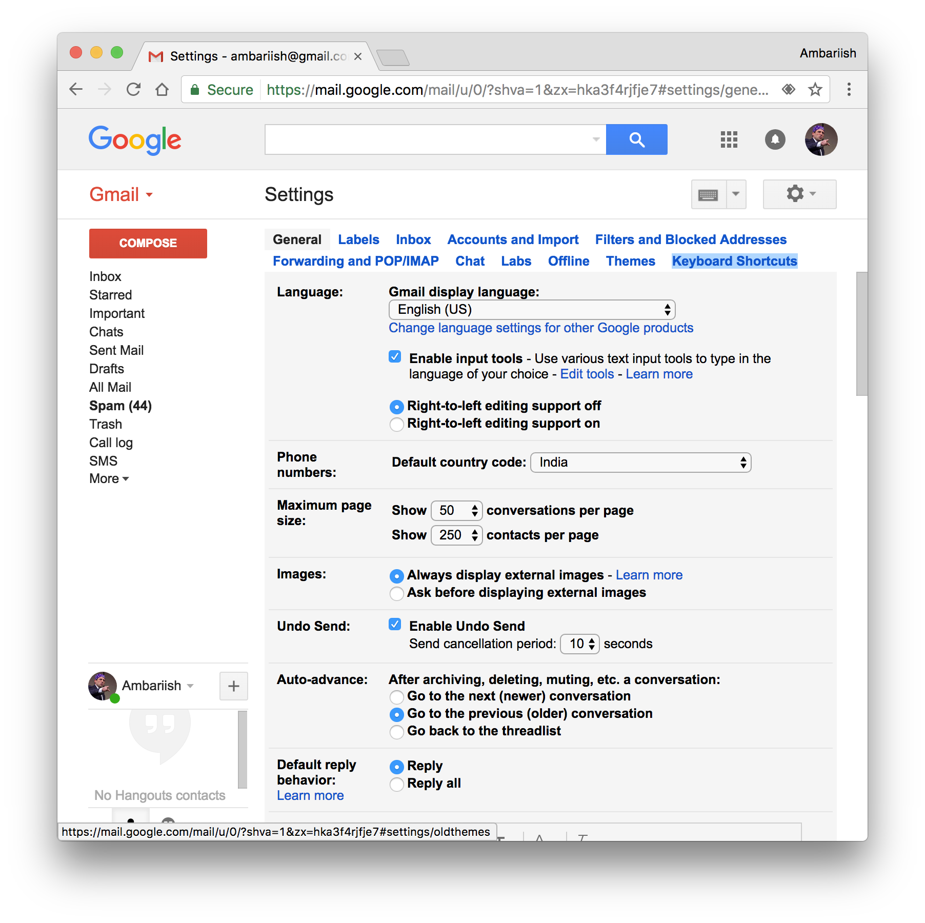 Control Gmail With Custom Keyboard Shortcuts