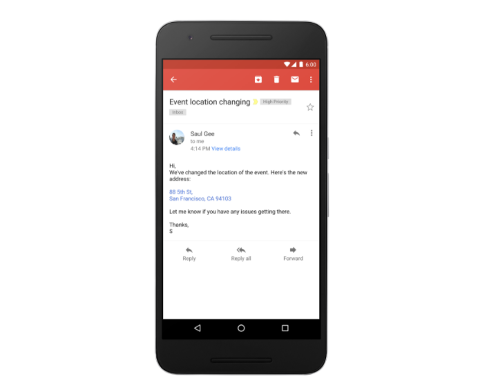 Phone Numbers, Addresses now appear as links after this Gmail Update