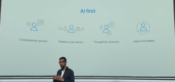 Sunder Pichai talked about Google's focus towards AI. The expansion of hardware division is a big step forward in that direction.
