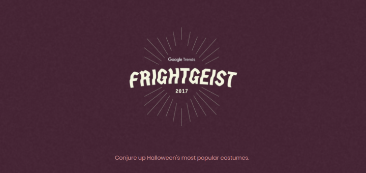 Check Out All The Halloween 2017 Trends with Google's Frightgeist