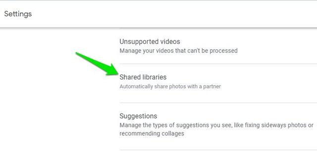 Google Photos Shared Librariess