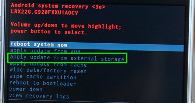 install software from external storage