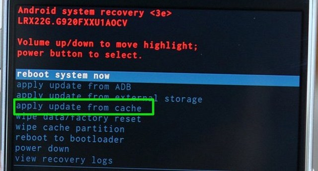 update OS software from cache