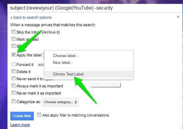 how to move emails directly to a folder in gmail