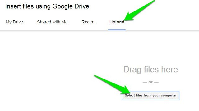 upload exe file in google drive