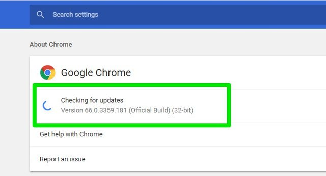 manually update Chrome