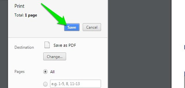 Save new PDF to PC