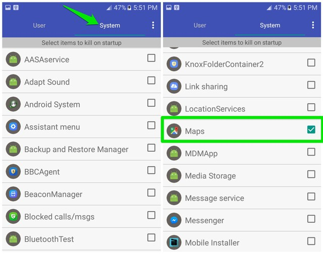 system apps to disable