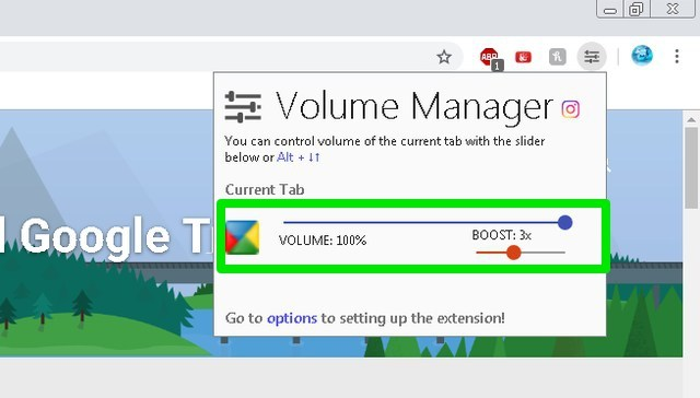 Boost volume of current tab