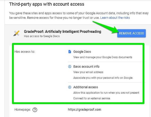 Remove app access