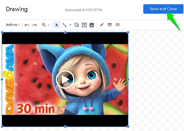 Add video link to Google Docs