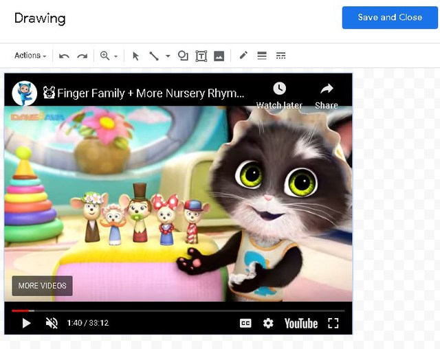 Play video in Google Docs