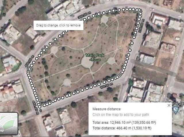 Area measure on Google Maps