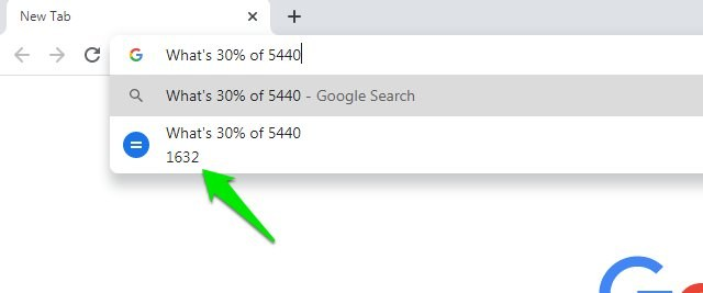 Use Chrome search bar as a calculator